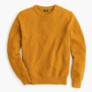 J. Crew Moss Stitch Crewneck Sweater Wheat Field